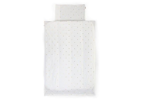 Childhome Childhome Duvet Cover + Pillowcase 100 x 140 Golden Dots