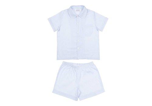 Cotolini Cotolini Pyjama Oxford Arthur Wit - Ciel