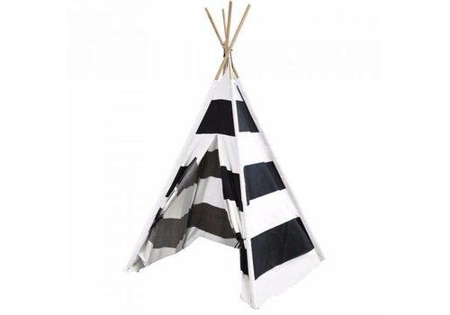 Kids Concept Kids Concept Tipi Tent Zwart - Wit