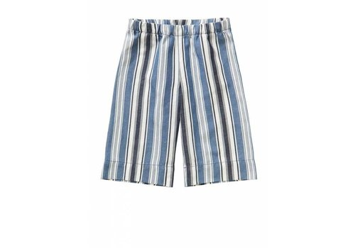 Il Gufo Il Gufo Capri Pants Denim Blue