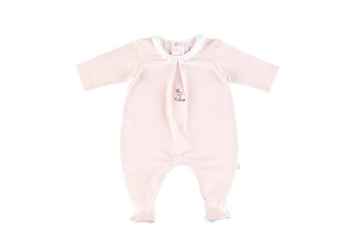 Theophile & Patachou Theophile & Patachou Playsuit Jersey Collar Origami Pink
