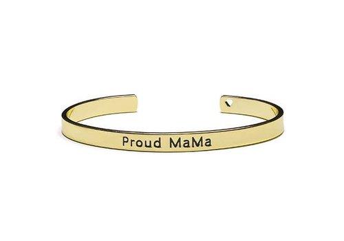 Proud Mama Proud  Mama Armband Goud