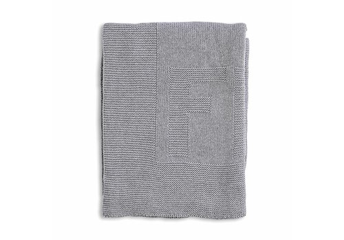 My First Collection First Blanket Knitted Cotton Grey