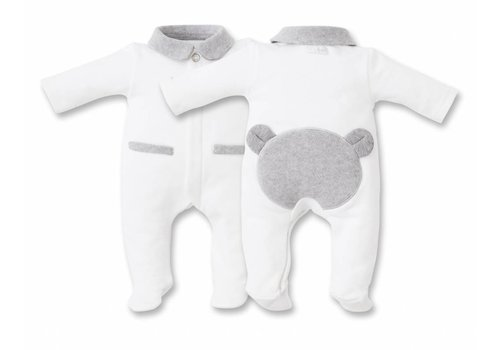 My First Collection First Pyjamas White With Teddy Bear