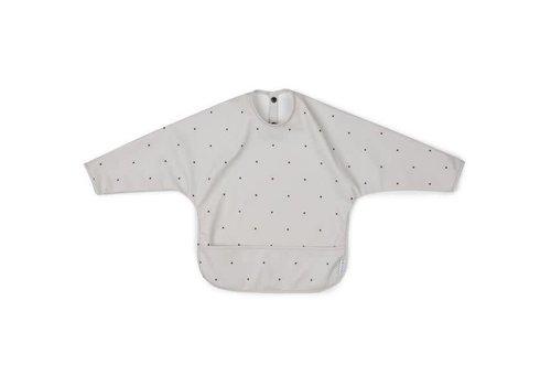 Liewood Liewood Bib With Sleeves Classic Dot Dumbo Grey