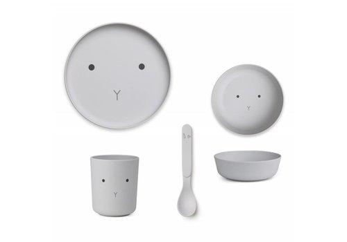 Liewood Liewood Tableware Set Bamboo Rabbit Dumbo Grey