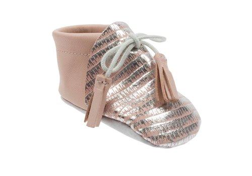 Le Petit Fils Du Cordonnier Le Petit Fils Du Cordonnier Baby Shoes Colibri Silver - Pink