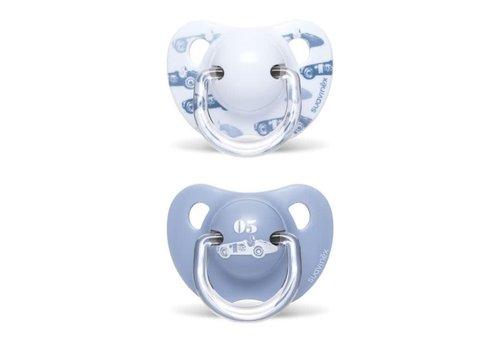 Suavinex Suavinex Fopspeen Silicone Anatomical 6-18M Toys Bleu DUO Effen Lichtblauw