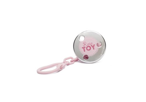 Suavinex Suavinex Speenketting Toys 'Rose Toy' Roze