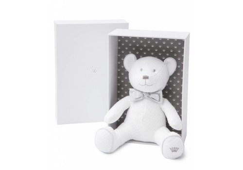 First First Musical Teddy Bear White Waffled Jersey (Incl. Gift Box)