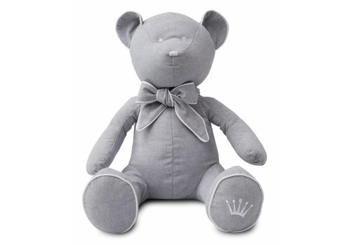 First First Teddy Bear Chambray Grey 50 Cm