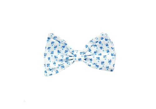 Aletta Aletta Bow White - Blue Detail