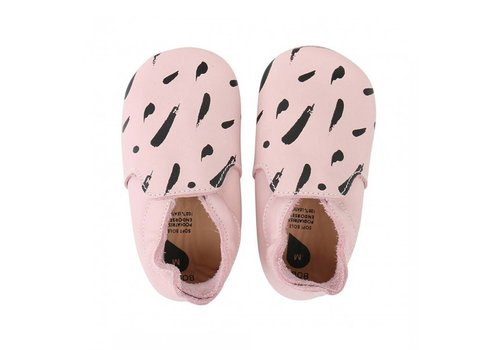 Bobux Bobux Soft Soles Roze- Zwarte Vegen Loafer