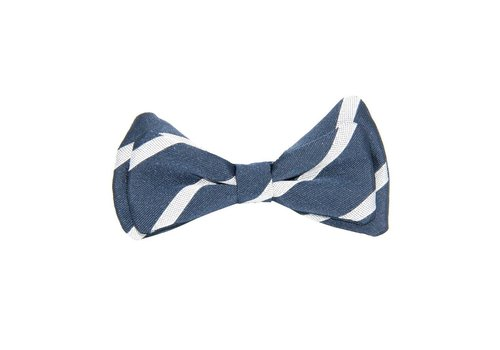 Aletta Aletta Bow Blue - Grey Stripes