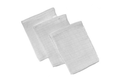 Mythos Mythos Tetra Washcloths White 3 Pieces