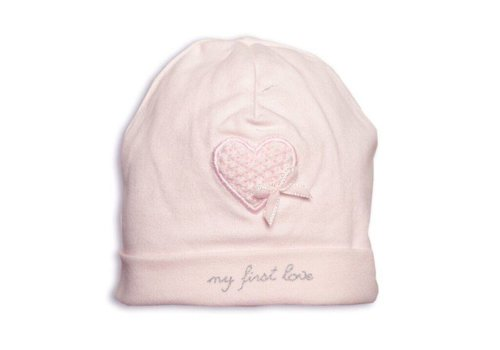 First First Hat 'My First Love' Heart Pink