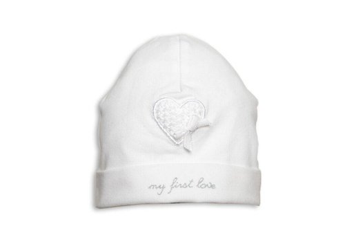 First First Hat 'My First Love' Heart White