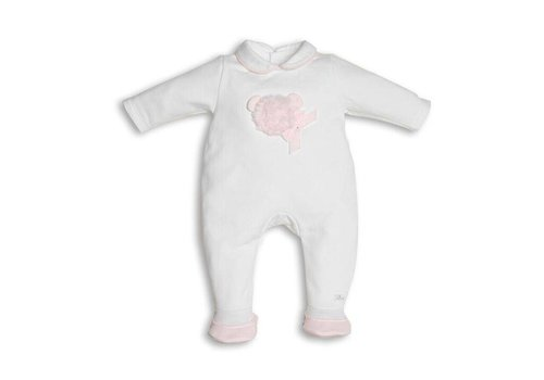 First First Combi Teddy Fur Wit - Roze