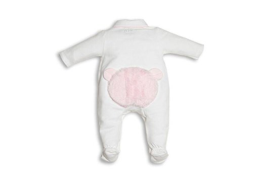 First First Combi Teddy Fur On Back White - Pink