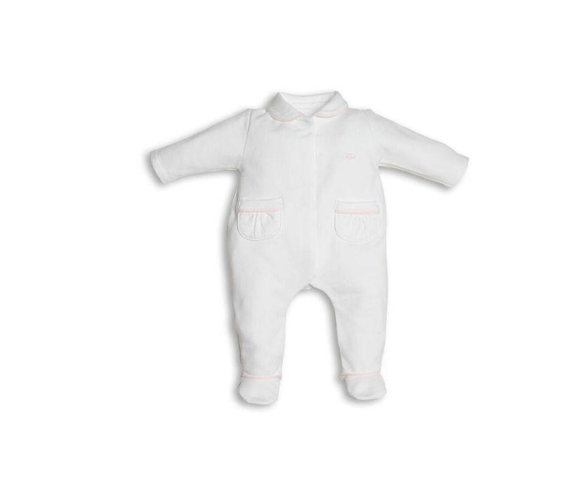 First Combi Teddy Fur On Back Wit - Roze