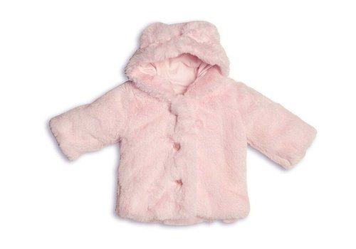 My First Collection First Coat Fur Teddy Ears Pink