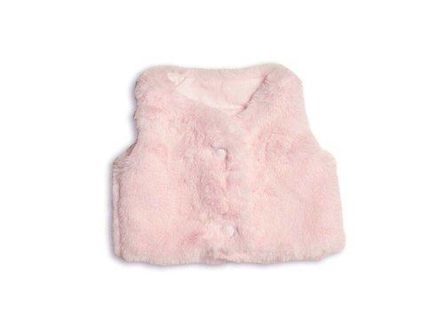 First First Gilet Fur Pink