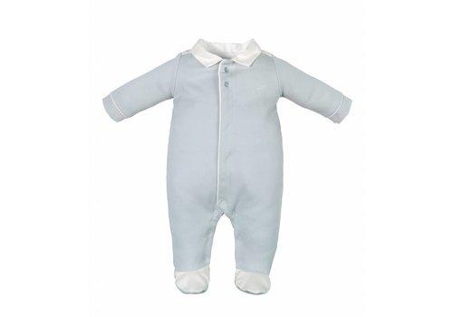 Laranjinha Laranjinha Pyjama Blauw - Wit Kraagje