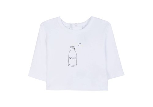 Absorba Absorba T-Shirt Wit 'Milk'