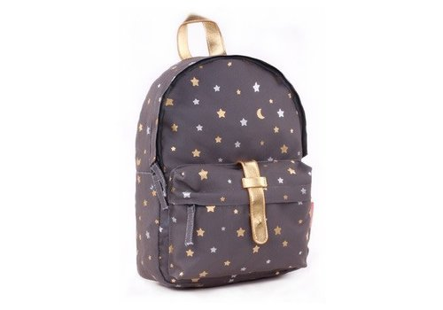 Kidzroom Kidzroom Backpack Gold Rush Dark Grey 31x23x9