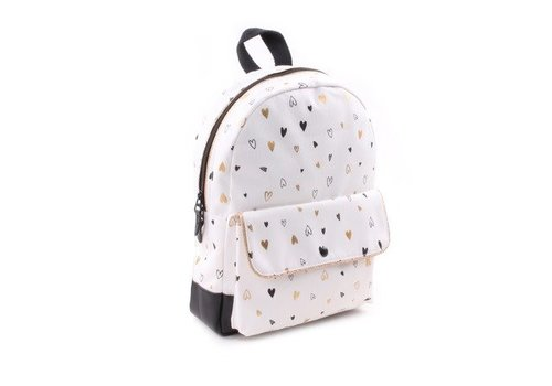 Kidzroom Kidzroom Backpack Black & Gold Hearts 30x23x8