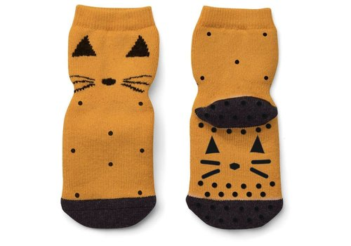Liewood Liewood Anti Slip Socks Cat Mustard