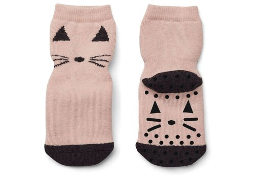 Liewood Liewood Anti Slip Socks Cat Rose