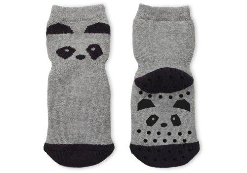 Liewood Liewood Anti Slip Socks Panda Grey Melange