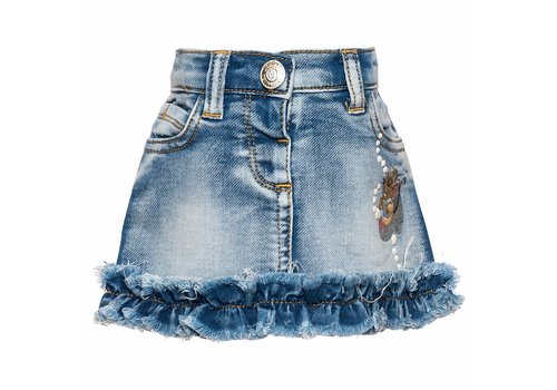 Monnalisa Monnalisa Skirt Jeans Stone Bleach