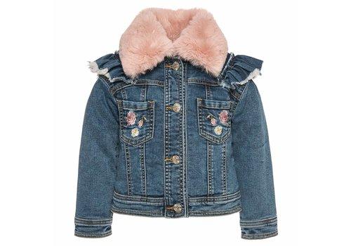 Monnalisa Monnalisa Denim Jacket Pink Collar