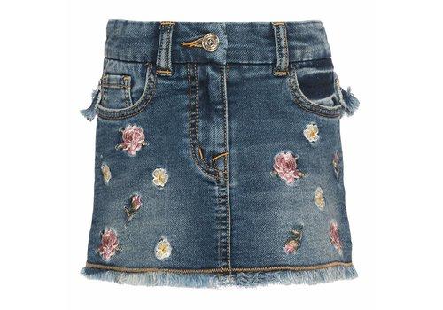 Monnalisa Monnalisa Skirt Jeans Roses