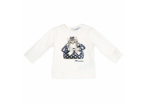 Monnalisa Monnalisa T-Shirt Cat Offwhite