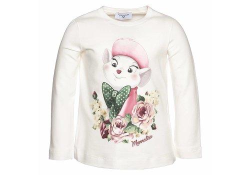Monnalisa Monnalisa T-Shirt St.Bianca Ecru