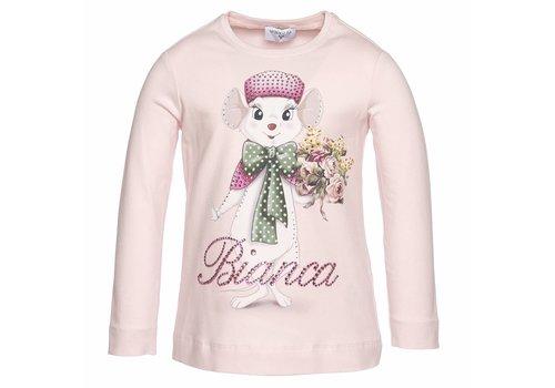Monnalisa Monnalisa T-Shirt St.Bianca Oud Roze