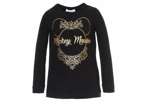 Monnalisa Monnalisa T-Shirt Mickey Mouse Black - Gold