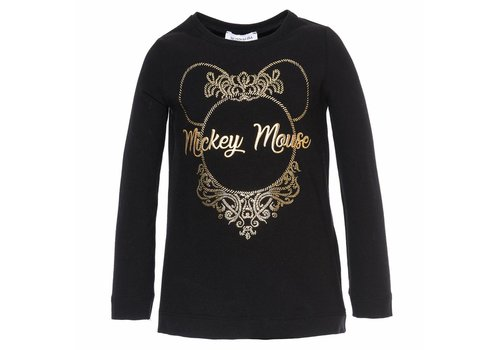 Monnalisa Monnalisa T-Shirt Mickey Mouse Zwart - Goud