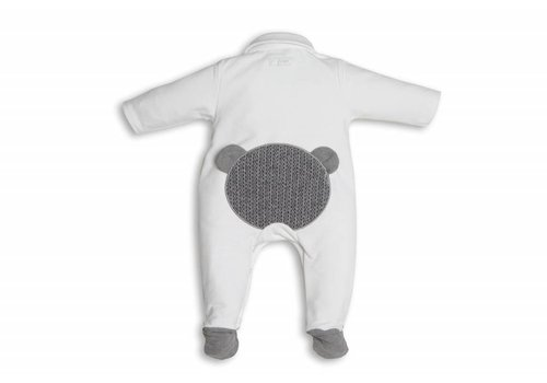 First First Combi Teddy On Back White