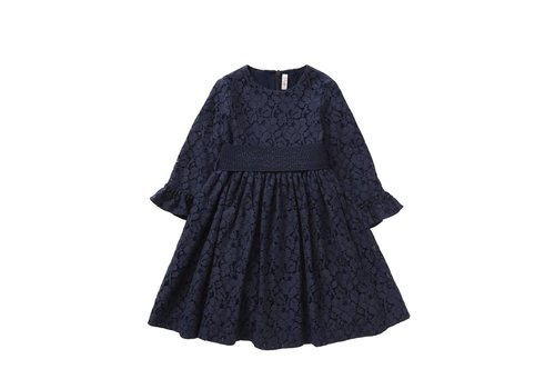Il Gufo Il Gufo Dress Night Blue