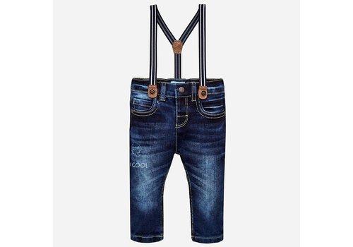 Mayoral Mayoral Pants With Suspenders Dark Cool