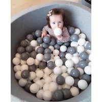 Misioo Ball Pit Grey - Balls White Grey