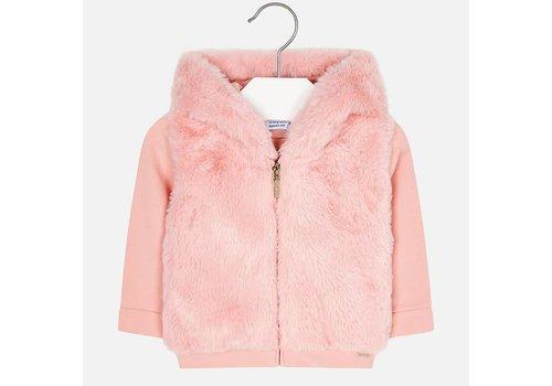 Mayoral Mayoral Sweater Fur Hood Pink