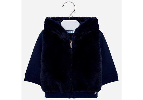 Mayoral Mayoral Sweater Fur Hood Navy