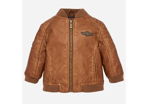 Mayoral Mayoral Leather Jacket Brown