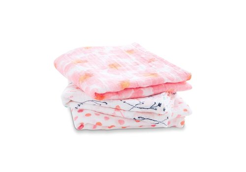 Aden & Anais Aden & Anais Swaddle Musy Petal Blooms 3-Pack