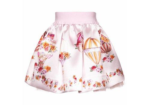 Monnalisa Monnalisa Skirt St. Mongolfiere Pink